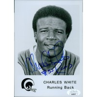Charles White Los Angeles Rams Signed 5x7 Glossy Photo JSA Authenticated