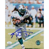 Ricky Williams Miami Dolphins Signed 8x10 Glossy Photo JSA Authenticated
