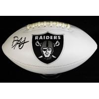 Damon Arnette Las Vegas Raiders Signed Logo White Football JSA Authenticated