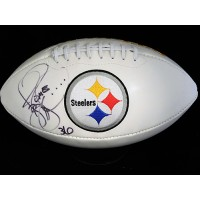 Jerome Bettis Pittsburgh Steelers Signed White Panel Football JSA Authenticated