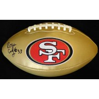 Roger Craig Signed San Francisco 49ers Gold Panel Football JSA Auth.