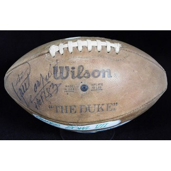 Paul Hornung Signed Wilson The Duke Official Game Football JSA Authenticated