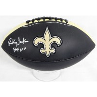 Rickey Jackson New Orleans Saints Signed Logo Black Football JSA Authenticated