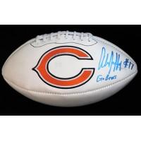 Alshon Jeffery Chicago Bears Signed White Panel Logo Football PSA Authenticated
