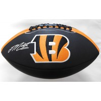 Joe Mixon Signed Cincinnati Bengals Black Panel Logo Football JSA Authenticated