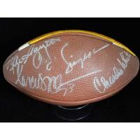 USC Trojans Heisman Winners Simpson, Allen, White Signed Football JSA Authentic
