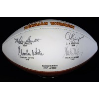 USC Trojans Heisman Winners Signed Special Edition Football JSA Authenticated