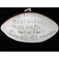 Bill Walsh Signed and inscribed White Panel Football JSA Authenticated