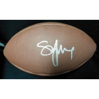 Steve Young Signed Wilson The Duke NFL Football JSA Authenticated