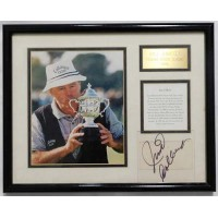 Jim Colbert PGA Signed Matted and Framed 4x4 Clear Cut JSA Authenticated
