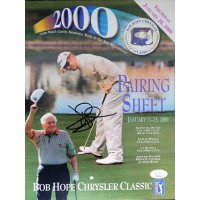 David Duval Signed 2000 Bob Hope Classic Pairing Sheet Program JSA Authenticated