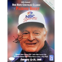 David Duval Signed 1998 Bob Hope Classic Pairing Sheet Program JSA Authenticated