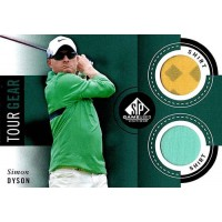 Simon Dyson Golfer Upper Deck SP Game Golf 2014 Tour Gear #TG SD Dual Shirt Card