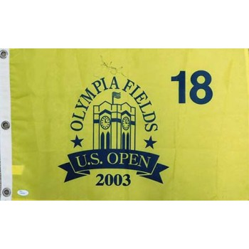 Jim Furyk Signed 2003 US Open Olympia Field Golf Pin Flag JSA Authenticated