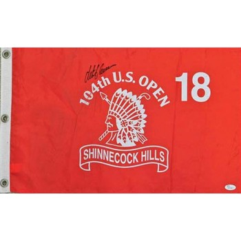Retief Goosen Signed 104th US Open Shinnecook Hills Golf Flag JSA Authenticated