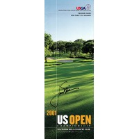 Jack Nicklaus Signed 2001 US Open Championship Pairing Guide JSA Authenticated