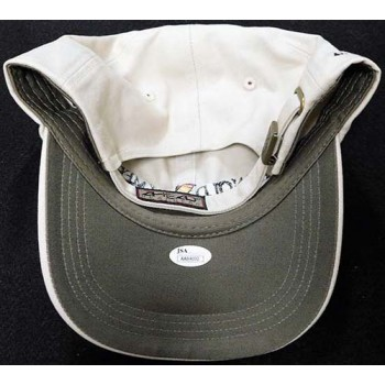 Arnold Palmer PGA Signed Tan Hat JSA Authenticated