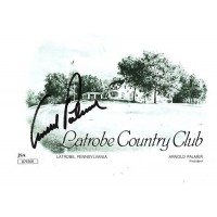 Arnold Palmer Signed Latrobe Country Club Scorecard JSA Authenticated