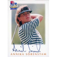 Annika Sorenstam Golfer Signed 1997 Alfa Bilder Card 1428/2000