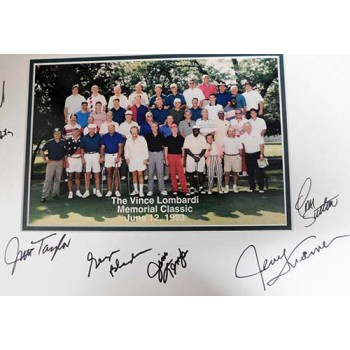Vince Lombardi 1993 Memorial Classic Signed Matte by 11 Players JSA Authentic
