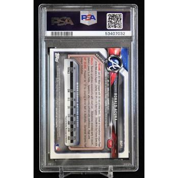 Ronald Acuna Jr. Braves 2018 Bowman Chrome Prospects Card #1 PSA 9 Mint