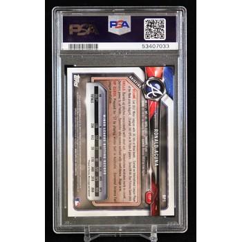 Ronald Acuna Jr. Braves 2018 Bowman Paper Prospects Card #BP1 PSA 9 Mint