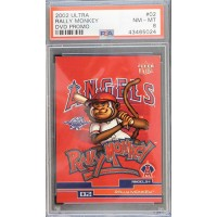 Anaheim Angels Rally Monkey 2002 Fleer Ultra DVD Promo Card #02 PSA 8 NM-MT