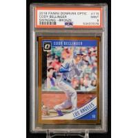 Cody Bellinger LA Dodgers 2018 Panini Donruss Optic Bronze Card #115 PSA 9 Mint
