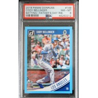 Cody Bellinger Dodgers 2018 Panini Donruss Fathers Day Blue Card #149 PSA 8 2/49