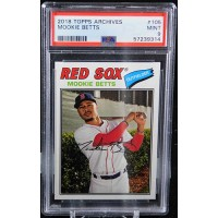 Mookie Betts Boston Red Sox 2018 Topps Archives Card #105 PSA 9 Mint
