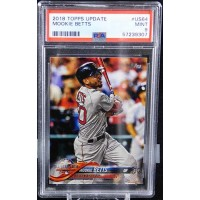 Mookie Betts Boston Red Sox 2018 Topps Update Card #US64 PSA 9 Mint