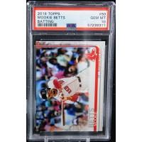 Mookie Betts Boston Red Sox 2019 Topps Batting Card #50 PSA 10 Gem Mint