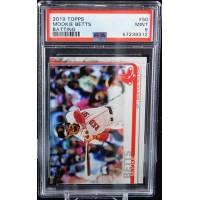 Mookie Betts Boston Red Sox 2019 Topps Batting Card #50 PSA 9 Mint