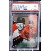 Mookie Betts and Ted Williams 2019 Topps Fire Lasting Legacies #LL-7 PSA 9 Mint