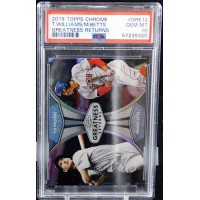 Mookie Betts and Ted Williams 2019 Topps Chrome Greatness Returns #GRE-12 PSA 10