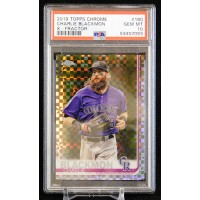 Charlie Blackmon Rockies 2019 Topps Chrome Refractor Card #160 PSA 10 Gem Mint
