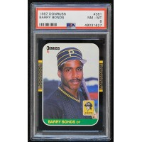 Barry Bonds Pittsburgh Pirates 1987 Donruss Card #361 Rookie Card PSA 8 NM-MT