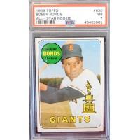 Bobby Bonds San Francisco Giants 1969 Topps #630 Card PSA Graded 7 NM (ASR)