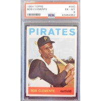 Bob Clemente Pittsburgh Pirates 1964 Topps #440 Card PSA Graded 6 EX-MT