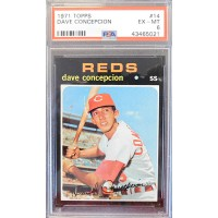 Dave Concepcion Cincinnati Reds 1971 Topps #14 Card PSA Graded 6 EX-MT ROOKIE