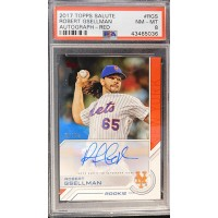 Robert Gsellman Signed Auto 2017 Topps Salute Card #RGS LE 7/10 PSA 8 NM-MT