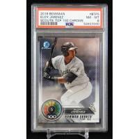 Eloy Jimenez White Sox 2018 Bowman Chrome Scouts Top 100 Card #BTP5 PSA 8 NM-MT