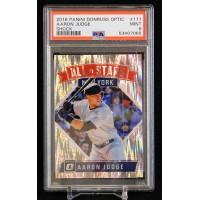 Aaron Judge Yankees 2018 Panini Donruss Optic All Stars Shock Card #171 PSA 9 Mt