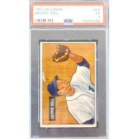 George Kell Detroit Tigers 1951 Bowman Card #46 PSA Graded 5 EX 43465066