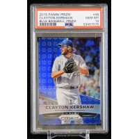 Clayton Kershaw LA Dodgers 2015 Panini Prizm Blue Card #46 PSA 10 Gem Mint