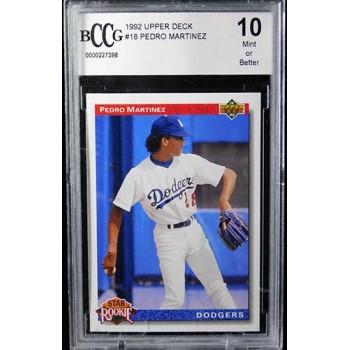 Pedro Martinez Los Angeles Dodgers 1992 Upper Deck Card #18 Beckett BCCG 10 Mint