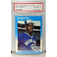 Fred McGriff Toronto Blue Jays 1987 Fleer Update Glossy Card #U75 PSA 8 NM-MT Rookie
