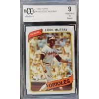 Eddie Murray Baltimore Orioles 1980 Topps Baseball Card #9 Beckett BCCG 9 NM
