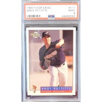 Andy Pettitte Prince William Cannons 1993 Fleer Excel Card #111 PSA 9 Mint