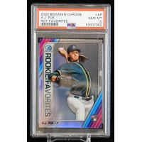 AJ Puk Athletics 2020 Bowman Chrome ROY Favorites Card #AP PSA 10 Gem Mint